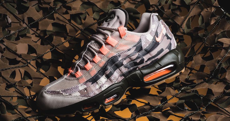 Nike Air Max 95 Essential arrives  in Desert Camo Sunset Tint