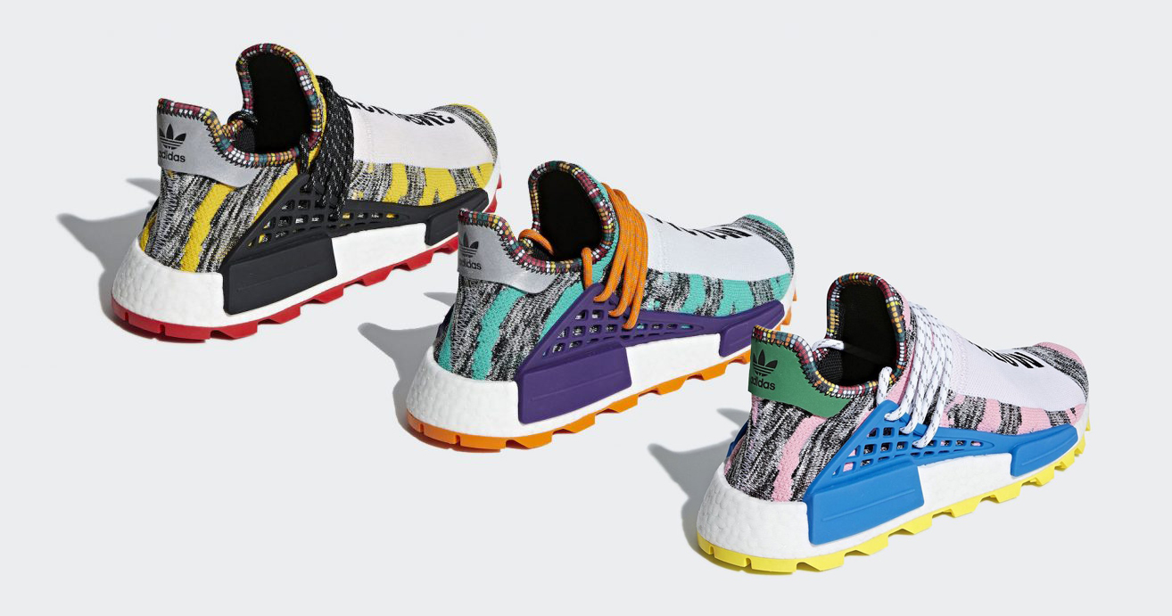"""Pharrell's Third and Final Colorway of his NMD Hu """"Solar Pack"""" is Revealed!"""
