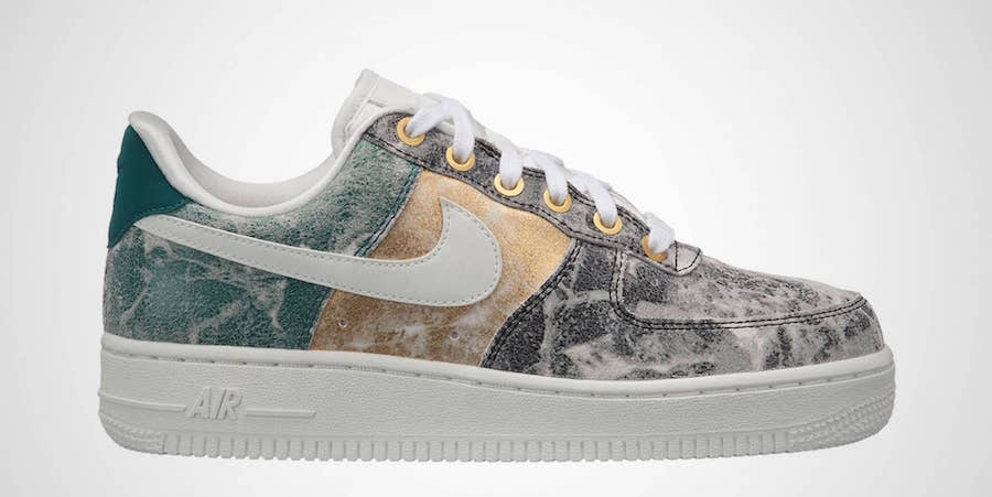 Acid Wash Meets Metallic on the Air Force 1 Low