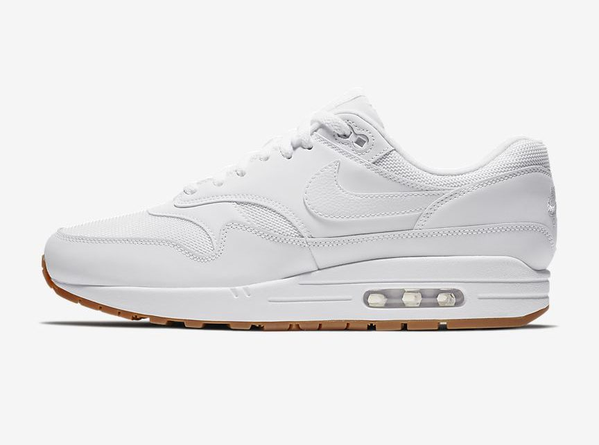 Available Now // Air Max 1 in White n' Gum