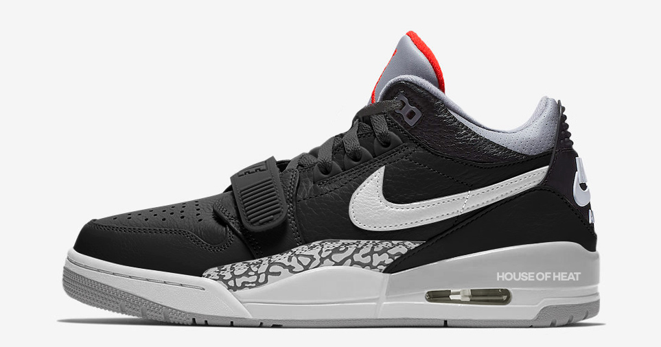 Air Jordan Legacy 312 Goes Low in Black Cement