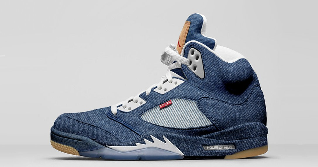 "Concept Lab // Levi's x Air Jordan 5 ""Blue Denim"""