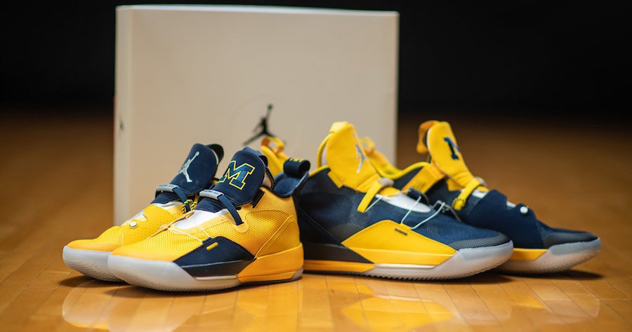 Michigan Unbox Their Air Jordan 33 PEs