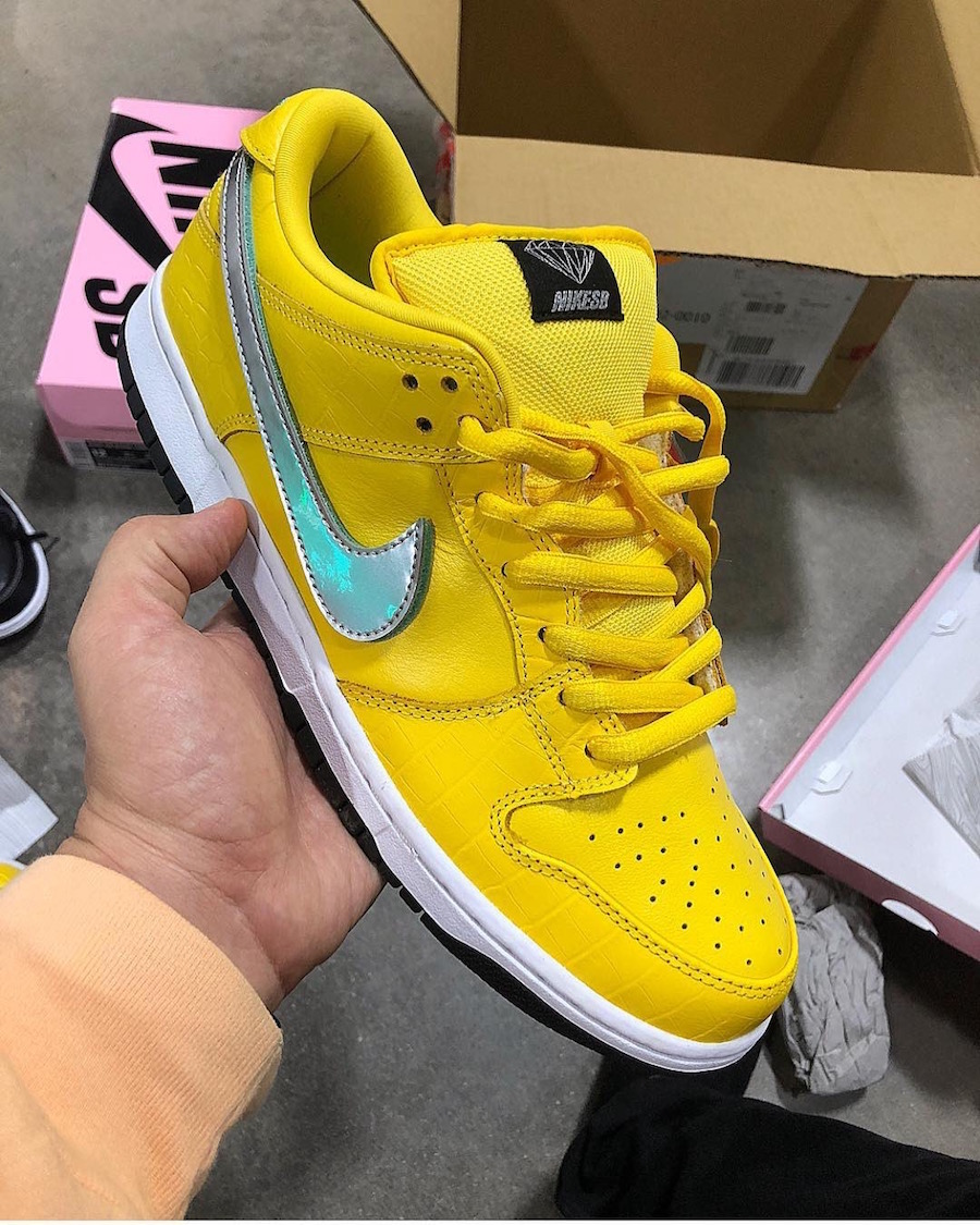 A Yellow Diamond Supply Co. x Nike SB Dunk Low Surfaces