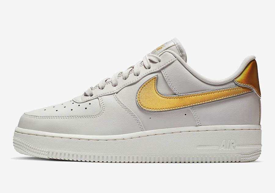 "Next Up for the Nike Air Force 1 Low is This ""Metallic Swoosh"" Pack"