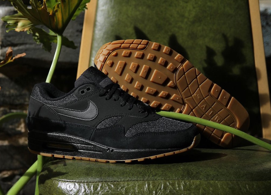 Available Now // Nike Air Max 1 in Black & Gum