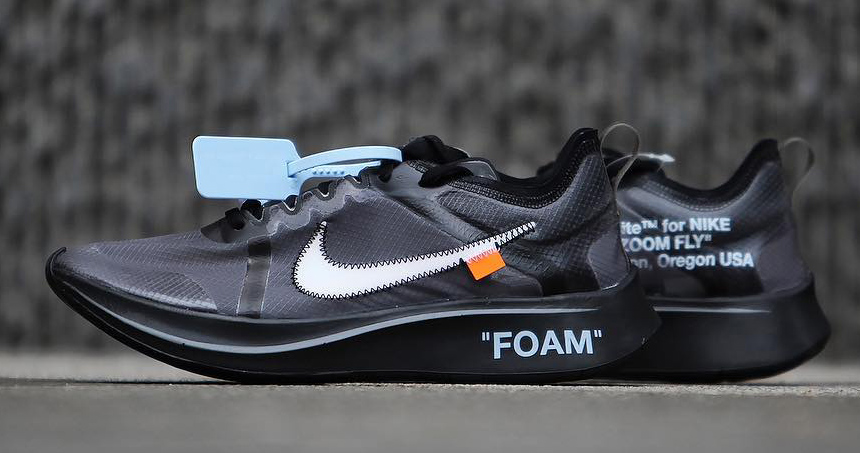 """Detialed Look // OFF-WHITE x Nike Zoom Fly """"Black"""""""