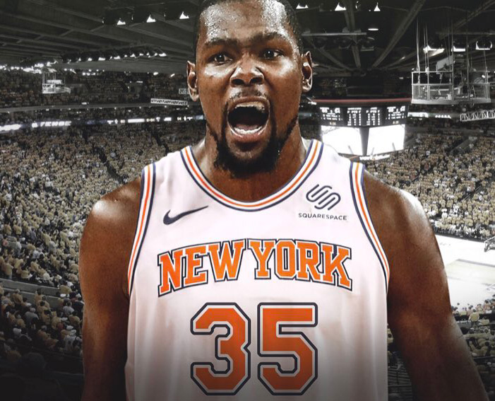 New Kevin Durant Billboard Replaces LeBron Banner Outside Madison Square Garden