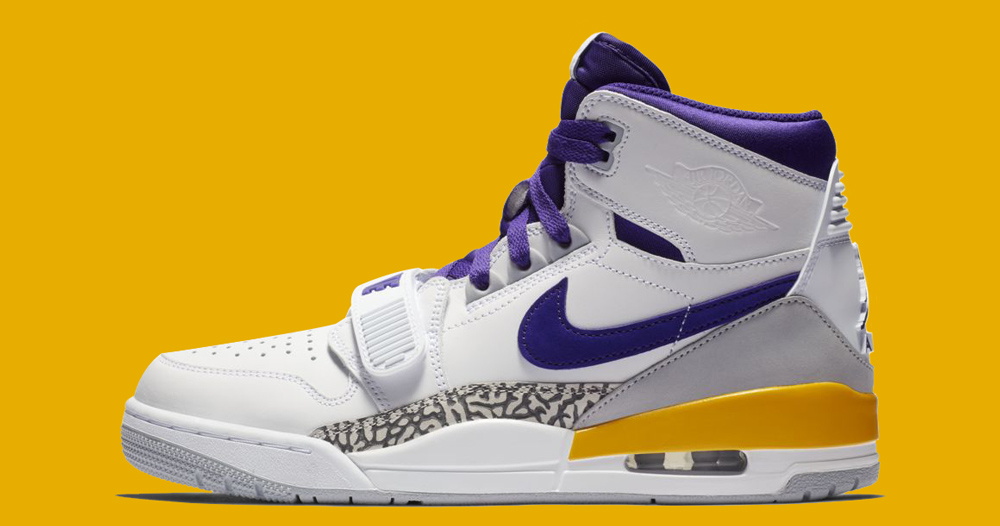 "Official Images // Air Jordan Legacy 312 ""Lakers"""