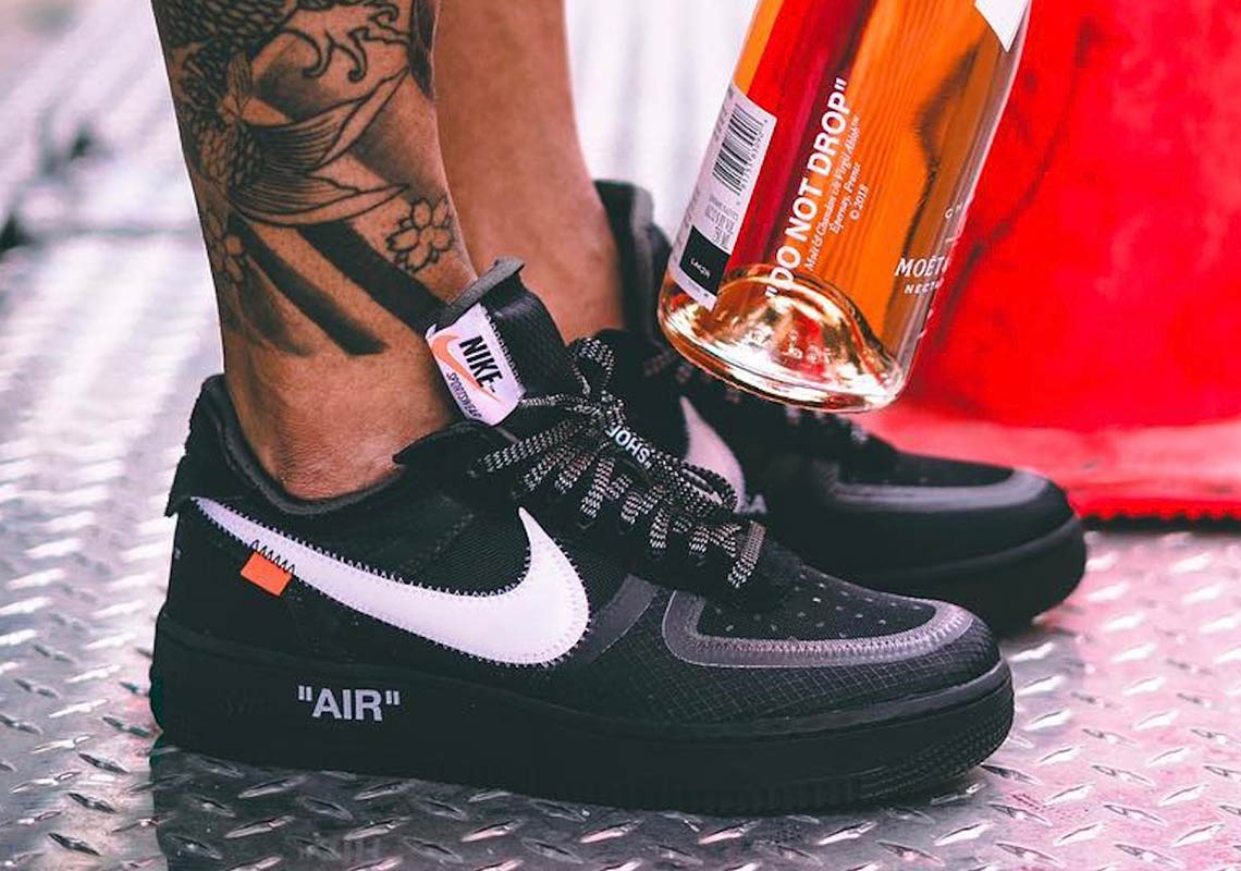 "A Release Date is Set for the OFF-WHITE x Nike Air Force 1 Low ""Black"""