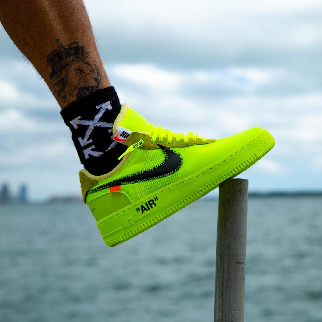 """A Release Date is Set for the OFF-WHITE x Nike Air Force 1 Low """"Volt"""""""