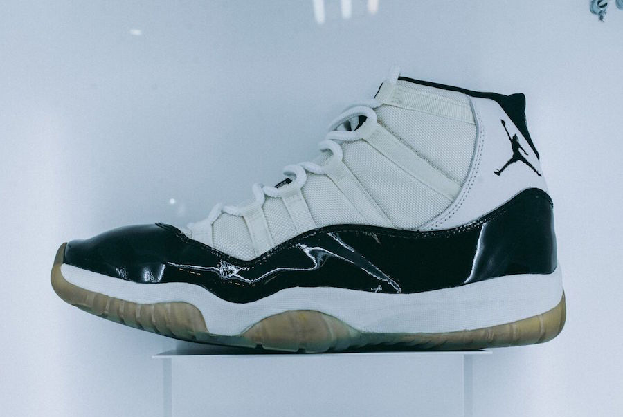 "Sneakersnstuff Display Game-Worn OG Jordan 11s in Anticipation of the ""Concord Retro"