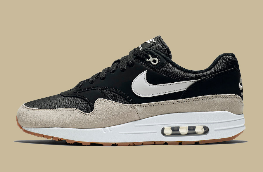 Available Now // Nike Air Max 1 in Black and Light Bone
