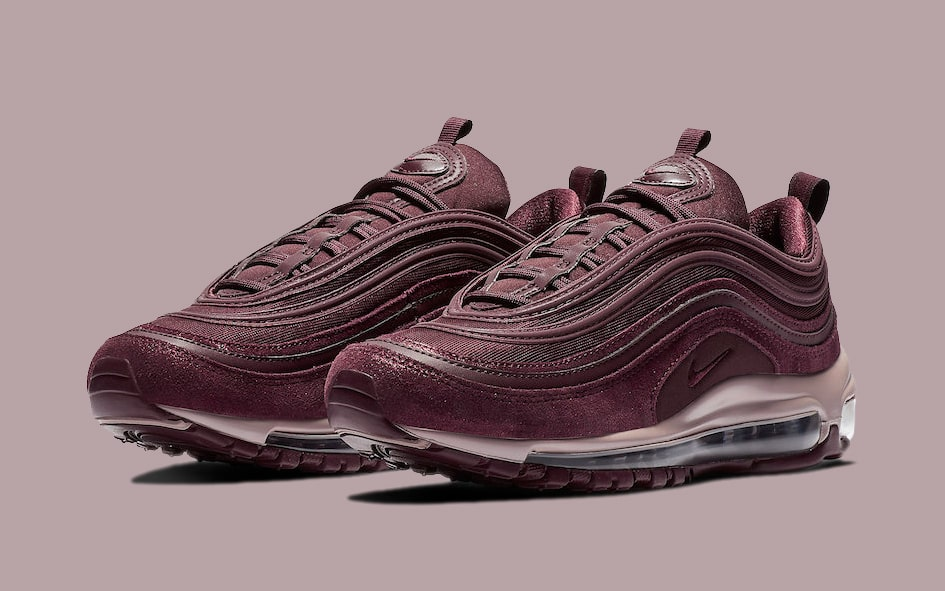 """Available Now // Air Max 97 """"Burgundy Crush"""""""