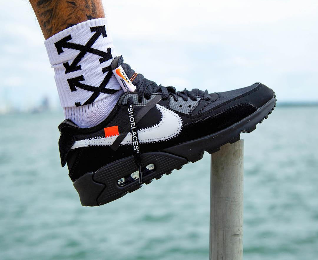 """A Release Date is Set for the OFF-WHITE x Nike Air Max 90 """"Black"""""""