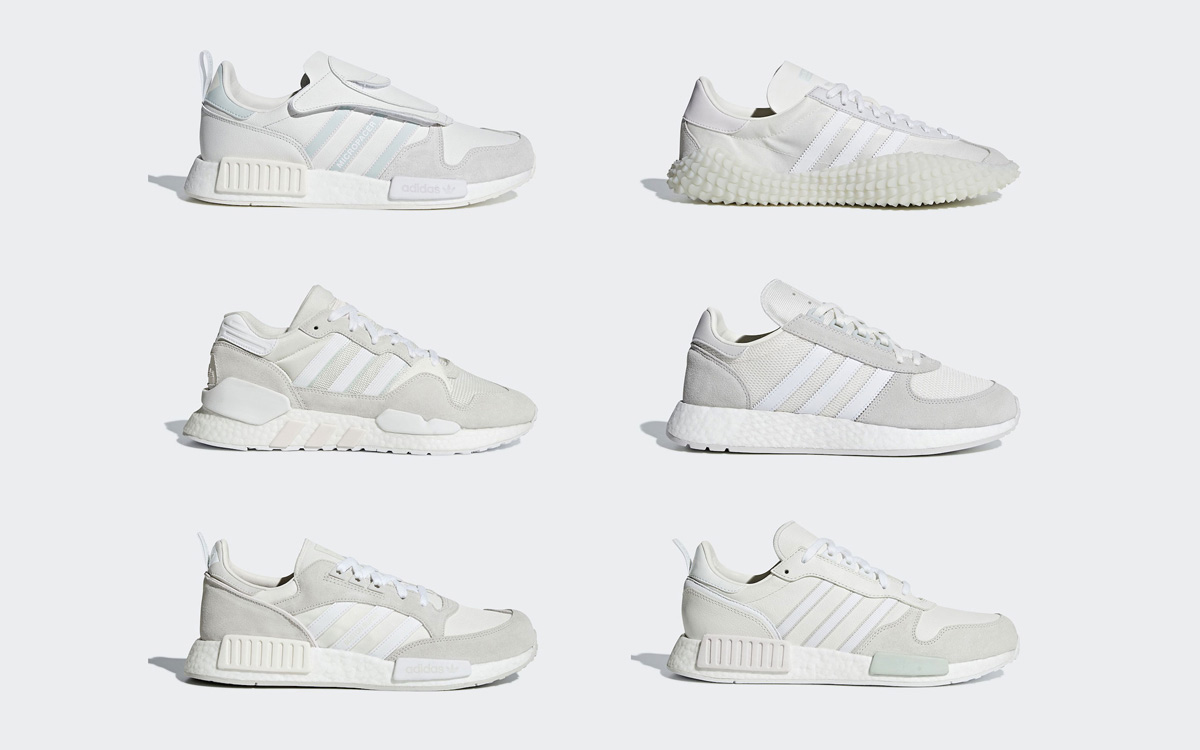 """adidas Officially Unveil Their """"Triple White"""" Never Made Collection"""