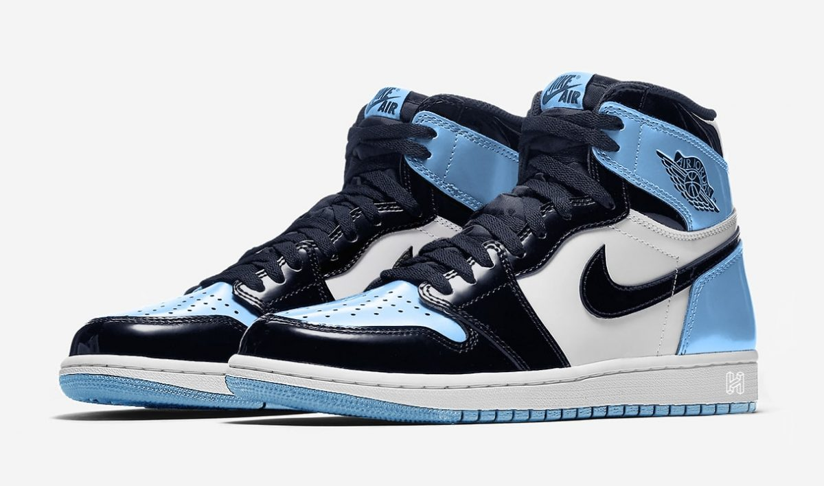 "Detailed Looks at the All-Star Weekend ""UNC"" Air Jordan 1 Patent Leather"
