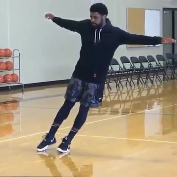 WATCH // Kyrie Irving's Incredibly Weird Balance Routine Will Freak You the Fuck Out