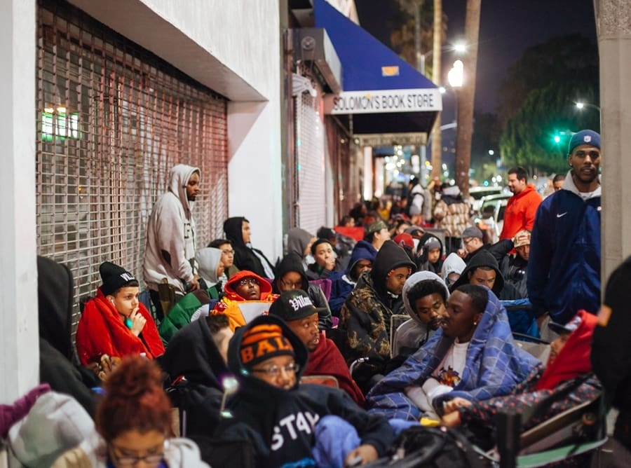 The Trials and Tribulations of a Weekend Sneaker Campout