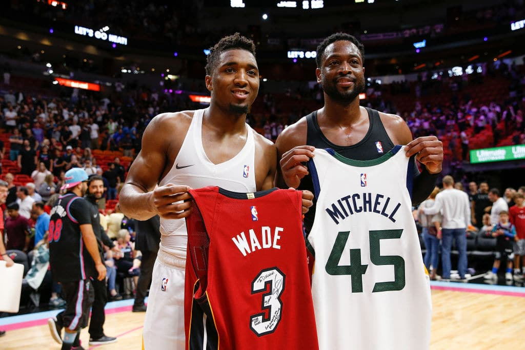 """Dwyane Wade on Donovan Mitchell: """"I Wish I was That Good That Young"""""""